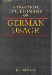 A Practical Dictionary of German Usage PDF