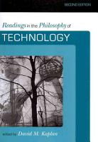 Readings in the Philosophy of Technology PDF