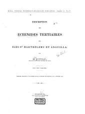 Description des échinides tertiaires des îles St. Barthélemy et Anguilla