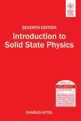INTRODUCTION TO SOLID STATE PHYSICS  7TH ED PDF
