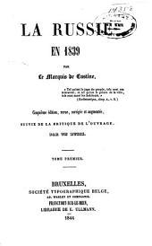 La Russie en 1839: Volumes1à2