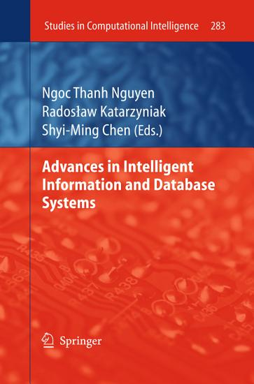 Advances in Intelligent Information and Database Systems PDF