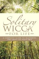 Solitary Wicca For Life PDF