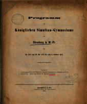 Programm des Königlichen Simultan-Gymnasiums zu Strasburg in W.-Pr: mit welchem zu der öffentlichen Prüfung der Schüler ... ehrerbietigst einladet. 1873/74