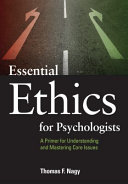 Essential Ethics for Psychologists PDF
