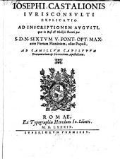 Explicatio ad inscriptionem Augusti, quae in basi et obelisci statuti per Sixtum V