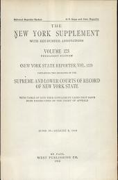 New York Supplement: Volume 123