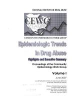 Epidemiologic Trends in Drug Abuse PDF