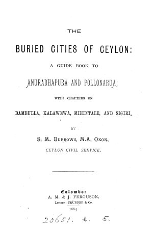 The Buried Cities of Ceylon