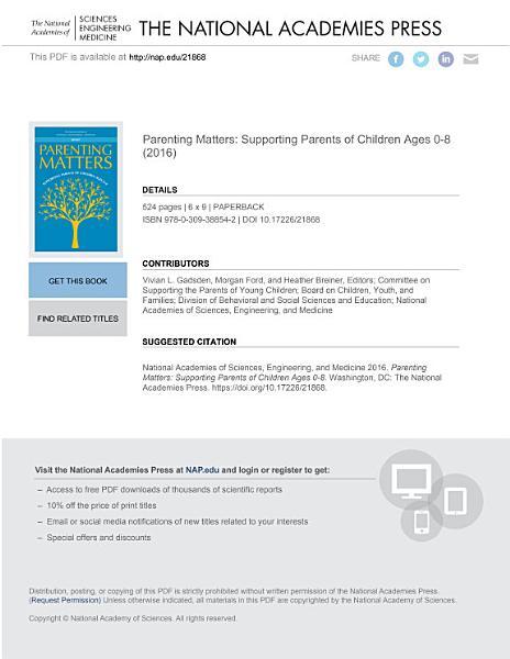 Download Parenting Matters Book