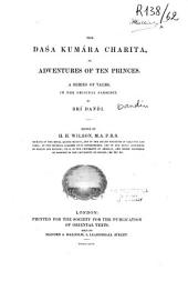 The dasa kumara charita, or, Adventures of ten princes: a series of tales in the original Sanscrit