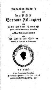 Gedächtnisschrift auf den Ritter Gaetano Filangieri