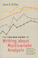 The Chicago Guide to Writing about Multivariate Analysis PDF