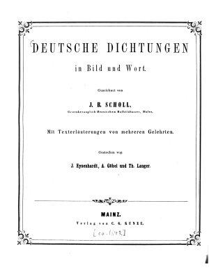 Deutsche Dichtungen in Bild und Wort PDF