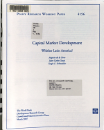 Capital Market Development PDF
