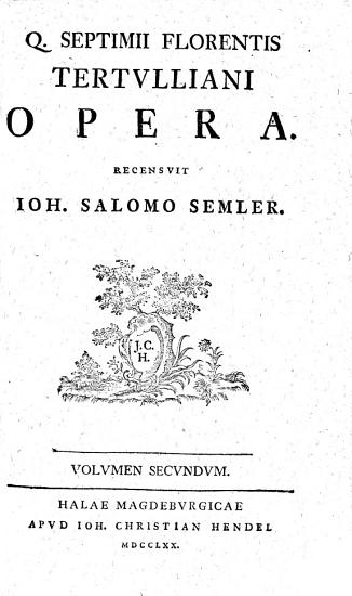 Q  SEPTIMII FLORENTIS TERTVLLIANI OPERA  PDF