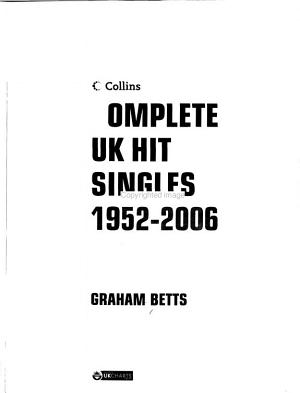 Complete UK Hit Singles 1952 2006