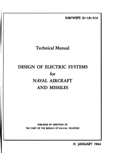 Technical Manual  Design of Electric Systems for Naval Aircraft and Missiles PDF