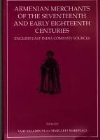 Armenian Merchants of the Seventeenth and Early Eighteenth Centuries PDF