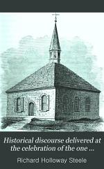 Historical Discourse Delivered at the Celebration of the One Hundred and Fiftieth Anniversary of the First Reformed Dutch Church, New Brunswick, N.J., October 1, 1867