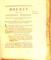 Decret de la Convention Nationale: Volume 1273