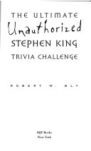 Ultimate Unauthorized Stephen King Trivia Challenge PDF