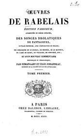 Oeuvres: 1. La vie de Gargantua et Pantagruel: Gargantua. - XXXII, 484 S. : 2 Ill