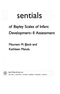 Essentials of Bayley Scales of Infant Development II Assessment PDF