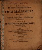 Diss. philol. de ficu maledicta, Marc. XI, 13