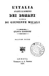 L'Italia avanti il dominio dei Romani: Volumi 1-2
