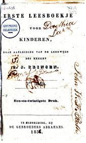Eerste leesboekje voor kinderen, naar aanleiding van de leerwijze des heeren P.J.Prinsen