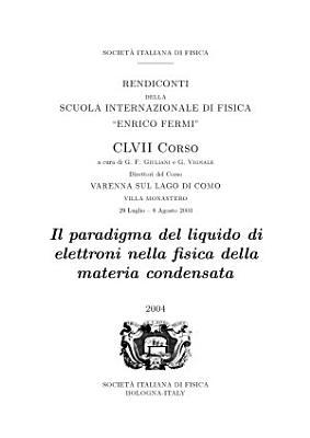 The Electron Liquid Paradigm in Condensed Matter Physics PDF