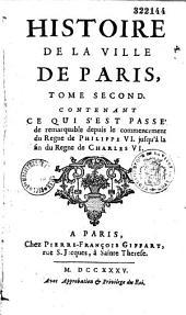 Histoire de la ville de Paris...