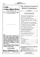 American Journal of Medical Jurisprudence PDF