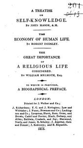 Mason on Self Knowledge: Economy of Human Life