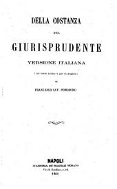 Opere di Giambattista Vico: 3: Della costanza del giurisprudente, Volume 3