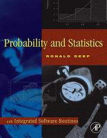Probability and Statistics with Integrated Software Routines PDF