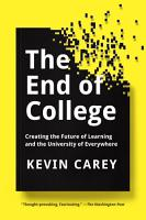 The End of College PDF