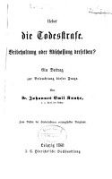 Ueber die Todesstrafe PDF