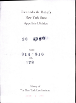 Records & Briefs New York State Appellate Division