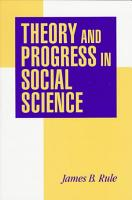 Theory and Progress in Social Science PDF