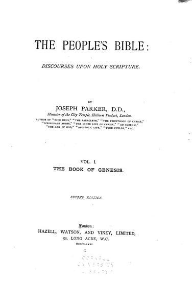 The People s Bible  Genesis PDF