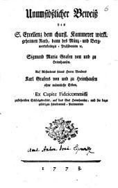 Unumstößlicher Beweis des dem Grafen Sigm. Maria von und zu Haimhausen zustehenden Erbfolgs-Rechts auf das Gut Heimhausen