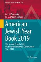 American Jewish Year Book 2019 PDF