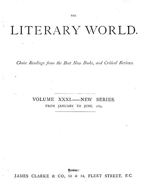 Download The Literary World Book