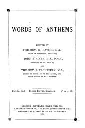 Words of Anthems Used in Westminster Abbey
