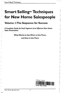 Smart Selling Techniques