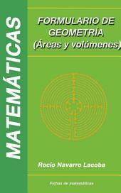 Formulario de geometría (áreas y volúmenes)