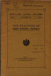 Maryland School Bulletin: Volume 3, Issue 9