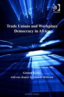 Trade Unions and Workplace Democracy in Africa PDF